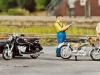 Echte Motorrad-Klassiker der siebziger Jahre bietet Noch in H0 an: BMW R60 mit Beiwagen und Zündapp KS 50 (sowie Kreidler Florett RS); Foto: RZ