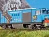 Neu von Liliput: H0e-Modell der D 16 in der Ausführung mit der Ganzreklame für die Luftseilbahn Ahornbahn in Mayrhofen; Foto: FZ