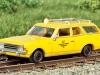 Nach Vorbild der urigen OHE-Draisine KL 1 von Drummer/Brekina: in H0 der antriebslose Opel Rekord Caravan; Foto: RZ