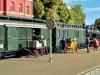 Ab geht die Post: Zugbildung mit Postwagen – Foto: Otto Humbach