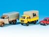 Von Brekina in H0: Robur Garant, Fiat OM Lupetto und Fiat 131