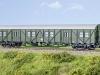 Brawa (H0): Die Bundesbahn baute viele MCi zu Behelfspackwagen um – Brawa realisiert Wagentypen mit Bretterwänden.