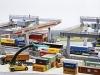 Faller überrascht mit dem Containerkran vom Containerbahnhof Weil am Rhein in 1 : 87 | Foto: Jürgen Wisckow